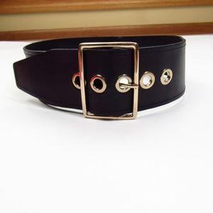 """Nordstrom Halogen Black Thick 34"""" Leather Belt"""